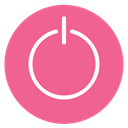 style, Circle, on, turn, off PaleVioletRed icon