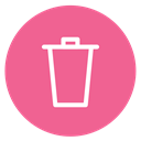 delete, style, Circle, Trash PaleVioletRed icon