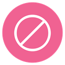 Block, Circle, style PaleVioletRed icon