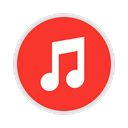 App, Service, music, Display, Apple, store, itunes Crimson icon