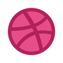 Dribble, designers, Screenshot, images, Social, graphic MediumVioletRed icon