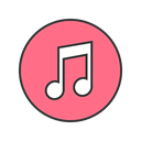music, store, Apple, App, Service, Display, itunes LightCoral icon