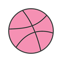 Dribble, Screenshot, Social, designers, images, graphic HotPink icon