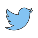 bird, twitter, media, online, Logo, Communication, Social Black icon