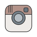 Social, photo, Instagram, App, network, Logo, Pictures Linen icon