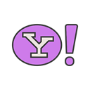 search, Page, Home, engine, internet, yahoo, website Black icon