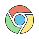 Browser, internet, chrome, search, google, website, online Black icon