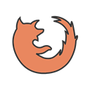 mozilla, Browser, site, Firefox, website, Page, internet Black icon