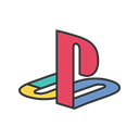 Playstation, friends, online, Computer, software, Game, gaming Black icon
