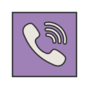 Logo, Viber, Message, Call, media, Social, Contact MediumPurple icon