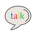 google talk, Logo, Message, Call, media, Social, Contact Gainsboro icon