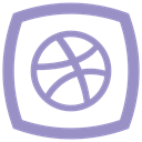 online, dribbble, media, internet, network, Social MediumPurple icon