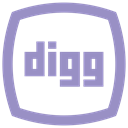 Logo, social media icon, Social, Digg MediumPurple icon