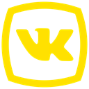 network, Social, Vk, vkontakte icon, Logo Gold icon
