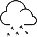 winter, Cloud, Snow, weather Black icon