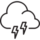 lightning, Cloud, weather, Storm Black icon