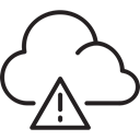 smoothness, Caution, Cloud, Avalanche danger, weather Black icon