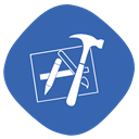Folder, Develop, Build, xcode, developing SteelBlue icon