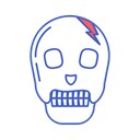 Bone, head, Dead, line icon, skull Black icon