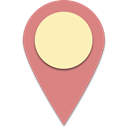 Find, Map, search, pin LightCoral icon