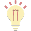 interesting, lamp, lightning, Idea Moccasin icon