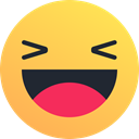 laugh, Emoticon, smile, joy, happy, Emoji, reaction SandyBrown icon
