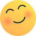 happy, joy, love, Emoticon, blush, Emoji, reaction SandyBrown icon