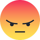 Emoticon, Emoji, Angry, sad, reaction SandyBrown icon