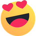 Emoji, reaction, valentine, Emoticon, Heart, Like, love SandyBrown icon