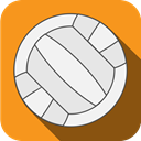 Ball, sports, volleyball, play DarkOrange icon