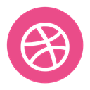 Dribble, Social, Ball, media, dribbble PaleVioletRed icon
