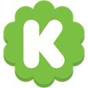 Social, Flower, K, round, media, Kickstarter YellowGreen icon