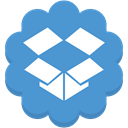 round, Data, Social, Cloud, Flower, dropbox, media SteelBlue icon