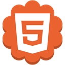 Social, html5, round, Flower, web, internet, media Chocolate icon