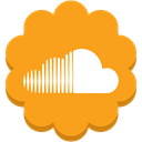 Soundcloud, Social, Flower, round, media, music Orange icon