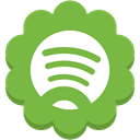 round, Social, Flower, media, Spotify YellowGreen icon