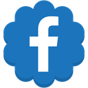 round, Flower, Facebook, media, Social SteelBlue icon