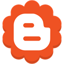round, blogger, Flower, Social, media Chocolate icon