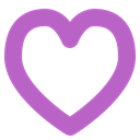 Heart, Appreciate, love, Like, Enabled, feelings MediumOrchid icon