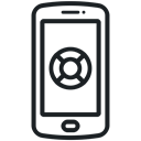 Application, support, phone, Information, help, Service, telephone icon Black icon
