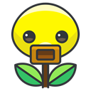 Game, Bellsprout, pokemon, Go, play Black icon