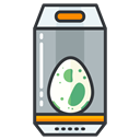 play, Game, Canister, Go, pokemon, egg Black icon