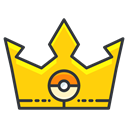 Game, crown, pokemon, play, Go Black icon