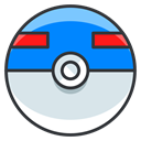 Go, great, Game, pokemon, Ball, play Gainsboro icon