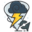 pokemon, weather, Go, play, Storm, Game DarkSlateGray icon