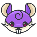 Game, Go, play, pokemon, rattata DarkSlateGray icon