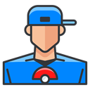 pokemon, trainer, Go, play, Boy, Game DodgerBlue icon