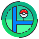 Map, pokemon, Go, location, Game, play DarkSlateGray icon