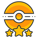 star, Go, trainer, Game, three, poke, pokemon Black icon