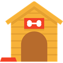 kennel, Furniture And Household, Doghouse, Dog House Goldenrod icon